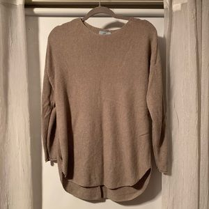 Partial cashmere sweater